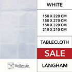 Langham Table Cloth White  NEW