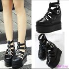 Womens Shoes Sandals Hollow out Gladiator Wedge inside Summer Platform Buckle