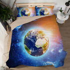 3D Planet Bedding Sets Duvet Cover Galaxy Star Print Quilt Cover Pillowcases