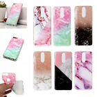 For Huawei Honor 7C/7X/Enjoy 7s TPU Soft Slicone Rubber Marble Case Cover Back