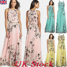 Ladies Plus Floral Sleeveless Maxi Dress Holiday Womens Summer Party Long Dress