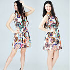 Hot Women Holiday Strappy Button Pocket Ladies Summer Beach Midi Swing Sun Dress