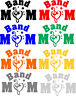 Band Mom Version 2 Exterior Window Car Decal Different sizes and Colors