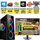 Fast Dual Core Gaming Pc + Monitor Bundle 4gb Ram 500gb Hdd Fortnite Computer
