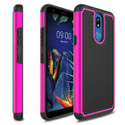 For LG K30/Premier Pro LTE/Harmony 2 Shockproof Case With Glass Screen Protector