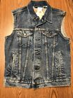 Levis 728860007 100% Cotton Men's Blue Denim Trucker Vest Je