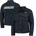 Los Angeles Chargers Levi's Sports Denim Trucker Jacket - Blue $107.99 USD on eBay