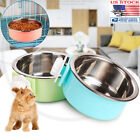 Hang Food Feeder Water Dishes Hanging Stainless Steel Bowls For Pet Dog Cat Cage