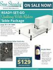 old sewing table - VIKING Sewing Machine Sew Steady READY-SET-GO Extension Table Package