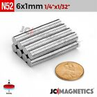 "Внешний вид - 25 100 1000pcs 6mm x 1mm 1/4""x1/32"" N52 Rare Earth Neodymium Small Magnet Disc"