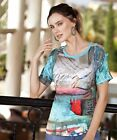 Simply Art Dolcezza: Pink Sand Beach Abstract Art Cutout Shoulder Tunic