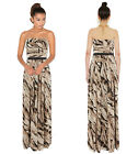 New KAREN MILLEN Feather Print BNWT £245 Evening Party Ball Gown Long Maxi Dress