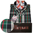 Warrior UK England Button Down Shirt THRIPP Slim-Fit Skinhead Mod Retro