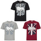 Lonsdale T-Shirt Boxing Graphic Union Jack Logo Black Grey Red S-3XL Regular Fit