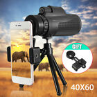 40X60 Zoom Monocular Telescope Camera Optical Lens +Clip+Tripod For Mobile Phone