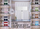 Внешний вид - 3PC SET NEW KITCHEN COLLECTION LINED BLACKOUT WINDOW CURTAIN 2 TIER 1 VALANCE