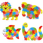 3D Kids Puzzle 26 Letters Lion Dinosaur Jigsaw Learning Educational Wooden Toys