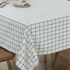 Modern Printed Table Cover Cotton Linen Tablecloth Lace Tea Table Dinning Decor