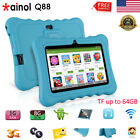 """7"""" Quad Core 1+8GB Tablet for Kids 3G TF 64GB Google Android7.1 WiFi Bundle Case"""