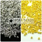 1,000 X 2mm Silver / Gold Plated Round Crimp Beads For Jewellery Making