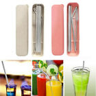 Durable Drinking Straw Stainless Steel Straws + Cleaner Brush +Box For Party Hot