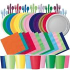 Paper Cup Fork Spoon Napkins Set Birthday Wedding Party Disposable Tableware