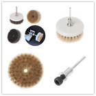 32mm Drill Powered Scrub Heavy Duty Cleaning Brush With Stiff Bristles Tools New