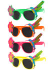 TROPICAL HAWAIIAN GLASSES SUMMER FANCY DRESS FLORAL SUNGLASSES PARTY ACCESSORY