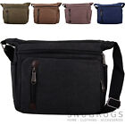Ladies / Womens / Mens Smooth Canvas Small Messenger / Shoulder / Cross Body Bag