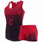 Women's Concepts Sport Red Cleveland Indians Shutout Tank Top & Shorts Set on Ebay