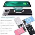 Qi Wireless Charger 20000mAh Power Bank For iPhone X 8 Plus Samsung Note 8 S8 US