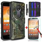 For Motorola Moto E5 Play/Go/Cruise Kickstand Holster Clip Case+Screen Protector