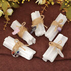 Rough Stone Crystal Raw Selenite Stick Wands Bunch + Pendant Set Home Protection