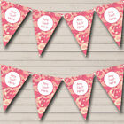 Pink Peach Camouflage Personalized Birthday Party Bunting Flag Banner