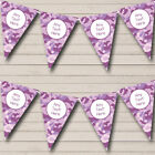 Purple Camouflage Personalized Birthday Party Bunting Flag Banner