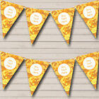Orange Yellow Camouflage Personalized Birthday Party Bunting Flag Banner