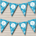 Blue Camouflage Personalized Children's Birthday Party Bunting Flag Banner