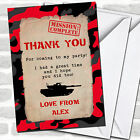 Red Army Soldier Camouflage Party Thank You Cards