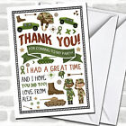 Camouflage Army Soldier Party Thank You Cards