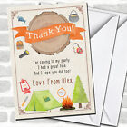 Log Watercolour Camping Bonfire Party Thank You Cards