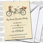 Pretty Vintage Bicycle Christmas Party Invitations