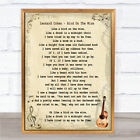 Leonard Cohen Bird On The Wire Song Lyric Quote Print