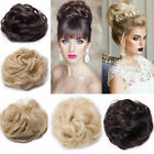 Extra Thick Curly Messy Bun Hair Piece Scrunchie 100% Natural Hair Extensions Fn