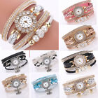 Simple Fashion women Girl Vintage Glass Alloy Watch Flower Quartz Bracelet Watch image