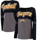 Los Angeles Chargers 5th & Ocean by New Era Women's Athletic Varsity Long Sleeve $43.99 USD on eBay