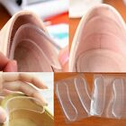 2Pairs Transparent High Heel Silicone Gel Pads Shoe Insole Protector For Heels
