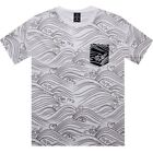 $49.99 Crooks and Castles Waves Tee (white) CC730715WHT