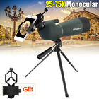 25-75X70 Zoom Monocular Abridge Spotting Scope Hunting w/ Clip For iPhone 8