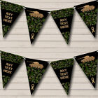 Army Tank Green Camouflage Personalized Childrens Party Bunting Banner