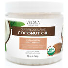 COCONUT OIL EXTRA VIRGIN 2oz-7lb ORGANIC Cold Pressed Velona